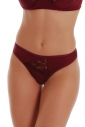 Microfiber High-cut Briefs Panties With Lace 314