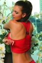 Women's Cotton tank top - Open back with Buckle 1207