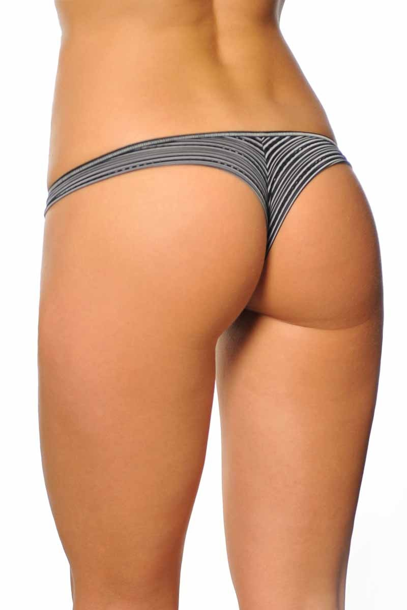 detailed images details for well known Black Brazilian Thong Panties 073