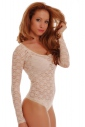 Lace Ladies Bodysuit Round Neck Long Sleeve Thong style 901
