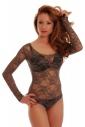 Lace Ladies Bodysuit Round Neck Long Sleeve Bikini style 904