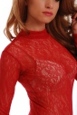 Lace Ladies Bodysuit Turtle neck Long Sleeve Thong style 905