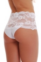 Elegant High-Waisted Brief Panties Lace Cotton 1046
