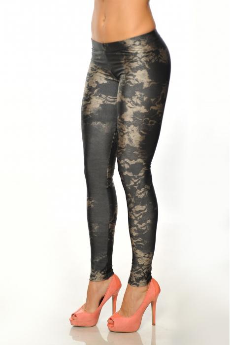 Γυναικεία ελαστικά Κάλτσες εκτύπωση 1505-3