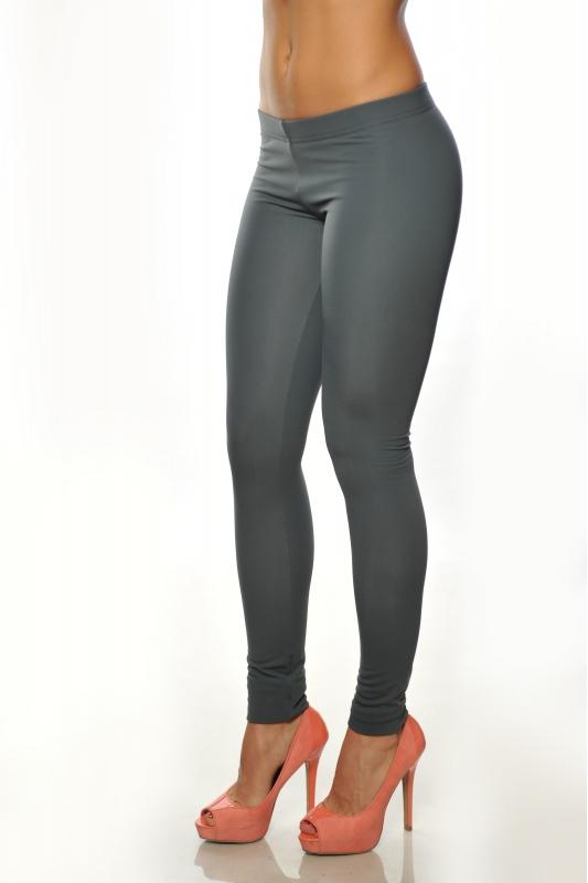 Dark grey Women's thermal wadded Leggings 15055