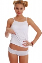 Women's Set Vest Thin Straps & Boyshorts Panties 1206-1065