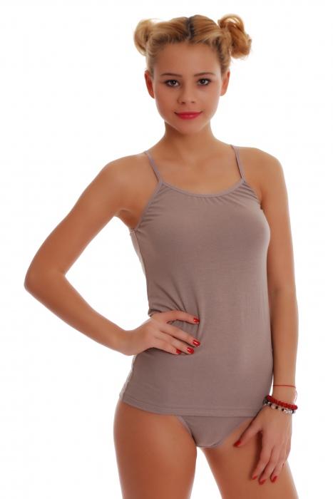Cotton Ladies Set Vest & Tanga Panties 1206-1215