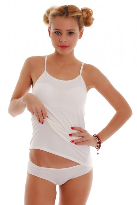 Γυναικείο σύνολο Vest Thin λουριά και μπικίνι κιλότα 1206-1225