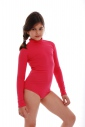 Child Long Sleeve Turtle Neck Bodysuit Girl Leotardl 1492