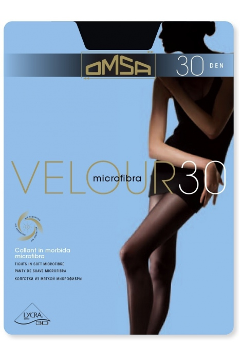 Tights Matt Velur 30 Den Omsa 245