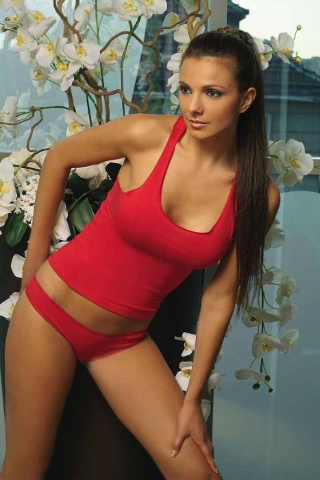 Ladies Cotton Set Tank top & Thong Panties 1207-1477