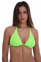 Bikini top soft triangle with removable cushioning 701