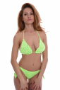 Bikini set knitted soft triangle ribbons tie side bottoms 1194