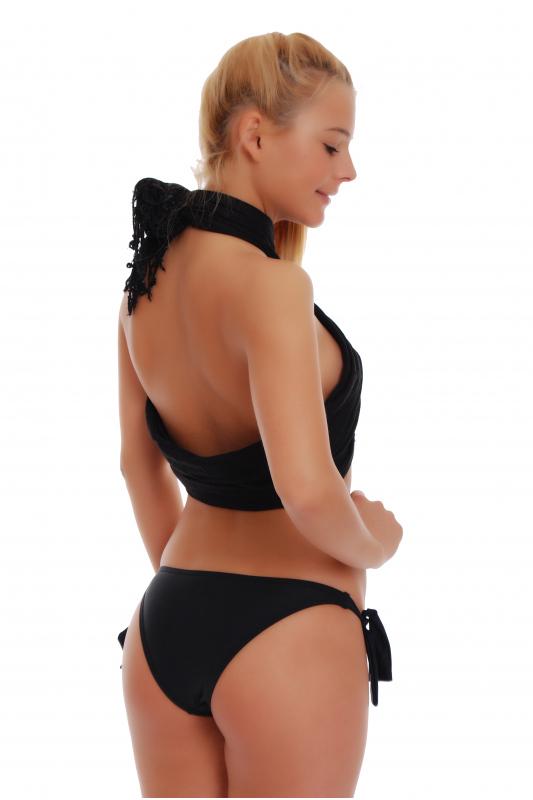 Bikini bottoms tanga style ribbons tie side 102