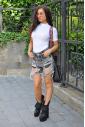 Cotton Bodysuit Turtle Neck Short Sleeve Thong Style 1430