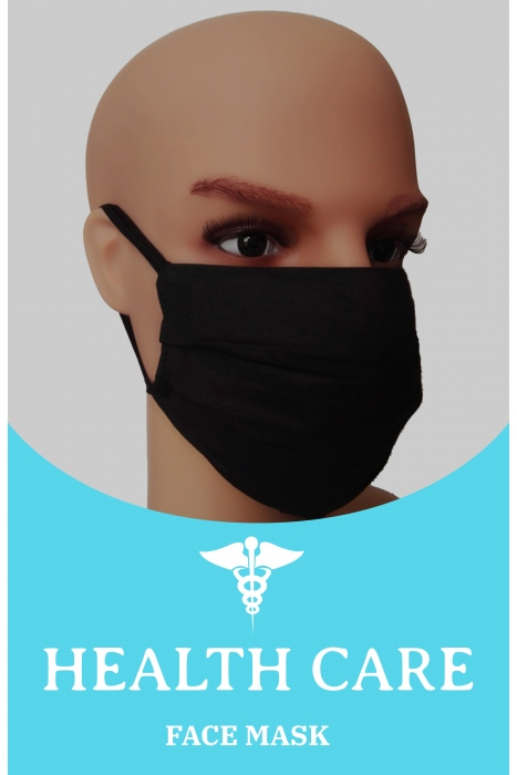 Face Mask - BLACK with Filter option OEKO-TEX Cer. M10