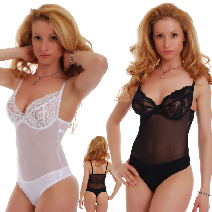 95e99ce4fc Ladies Bodysuit with lace soft cup - built bra thong 605 by TiaraGaliano